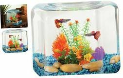 Koller Products BettaTank 2 Gallon Hex Fish Bowl