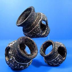 Set Of 3 L+M+S Egyptian Ceramic Jar Decor Aquarium Ornament