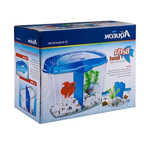 Aqueon Fish Starter Kit, Gallon, Blue