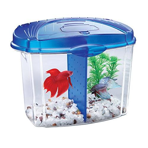 Aqueon Betta Fish Tank Starter Blue