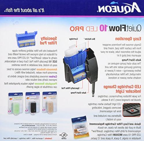 Aqueon QuietFlow LED Aquarium 10-100GPH