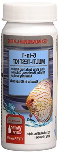MarineLand 6-in-1 Multi-Test Kit for Aquariums, 10-Count