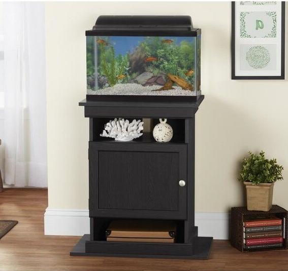 10-20 Gallon Elegant Tank Black Stand Furniture