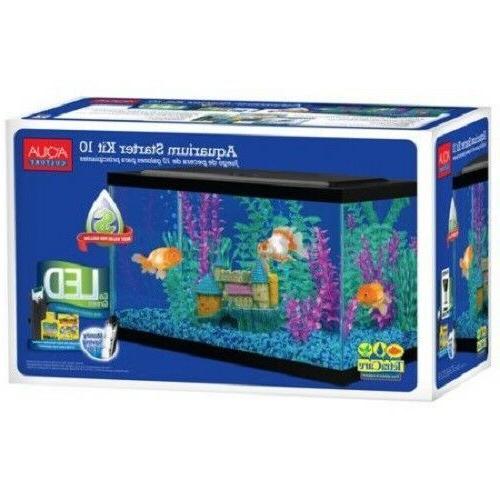 10 gallon aquarium kit set fish tank