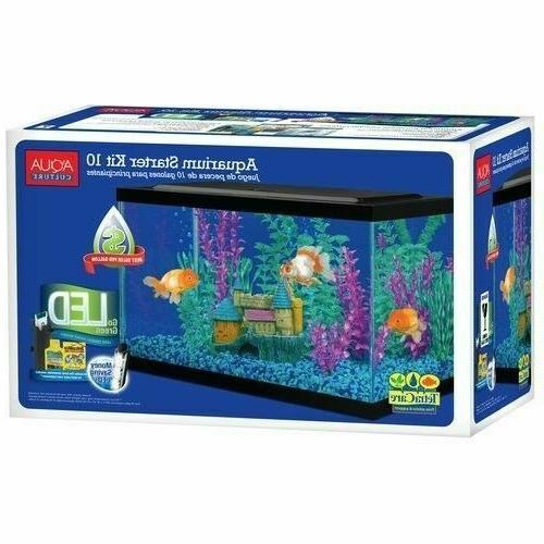 10 Gallon Set Fish Light Fresh New