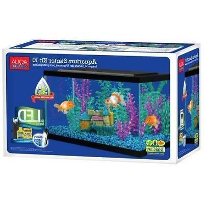 10 Gallon With Led Aqua Filter Aquarium Starter
