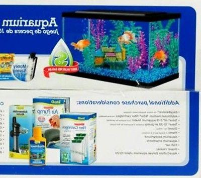 10 gallon fish tank with lid led