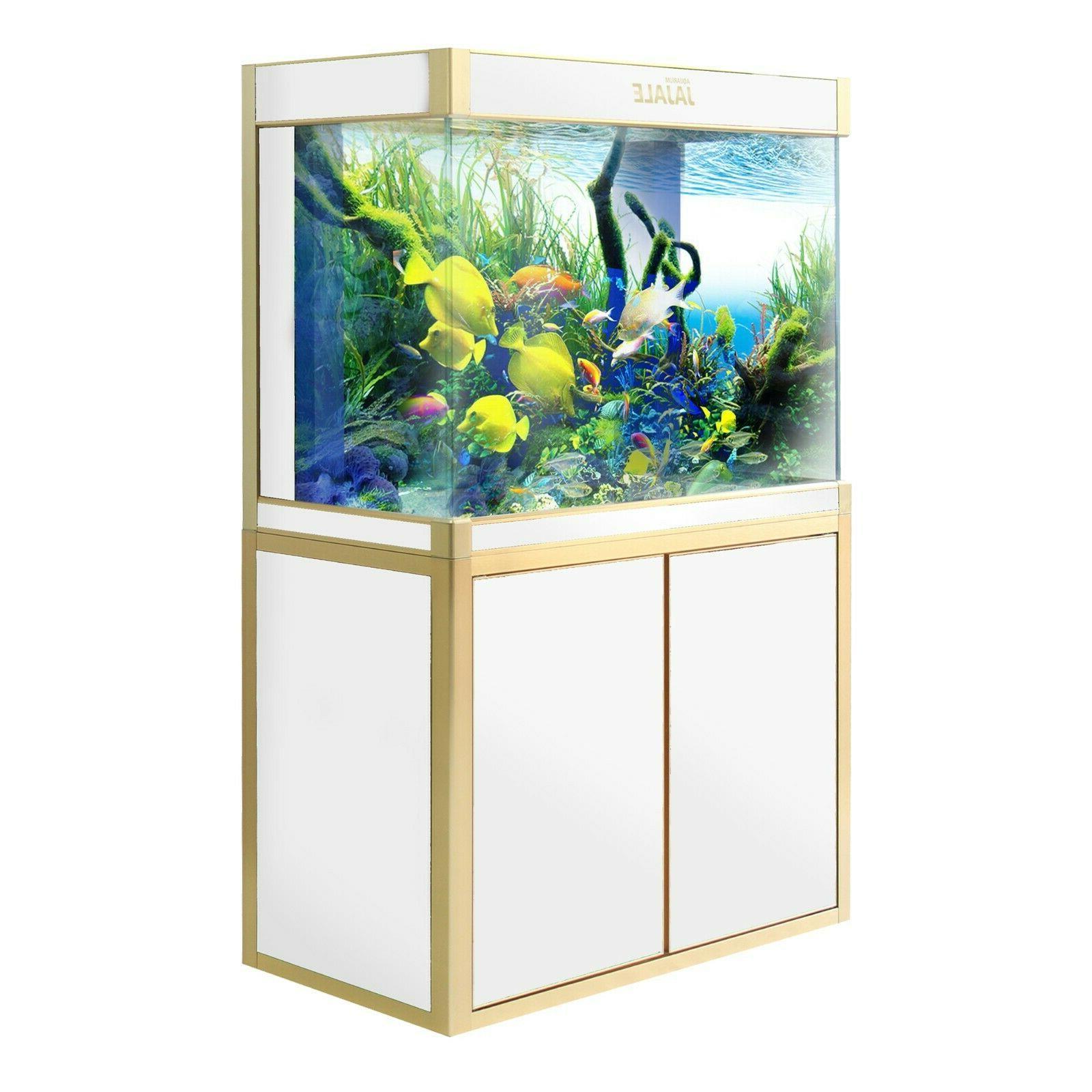 Glass Fish Tank w/ Light Pump