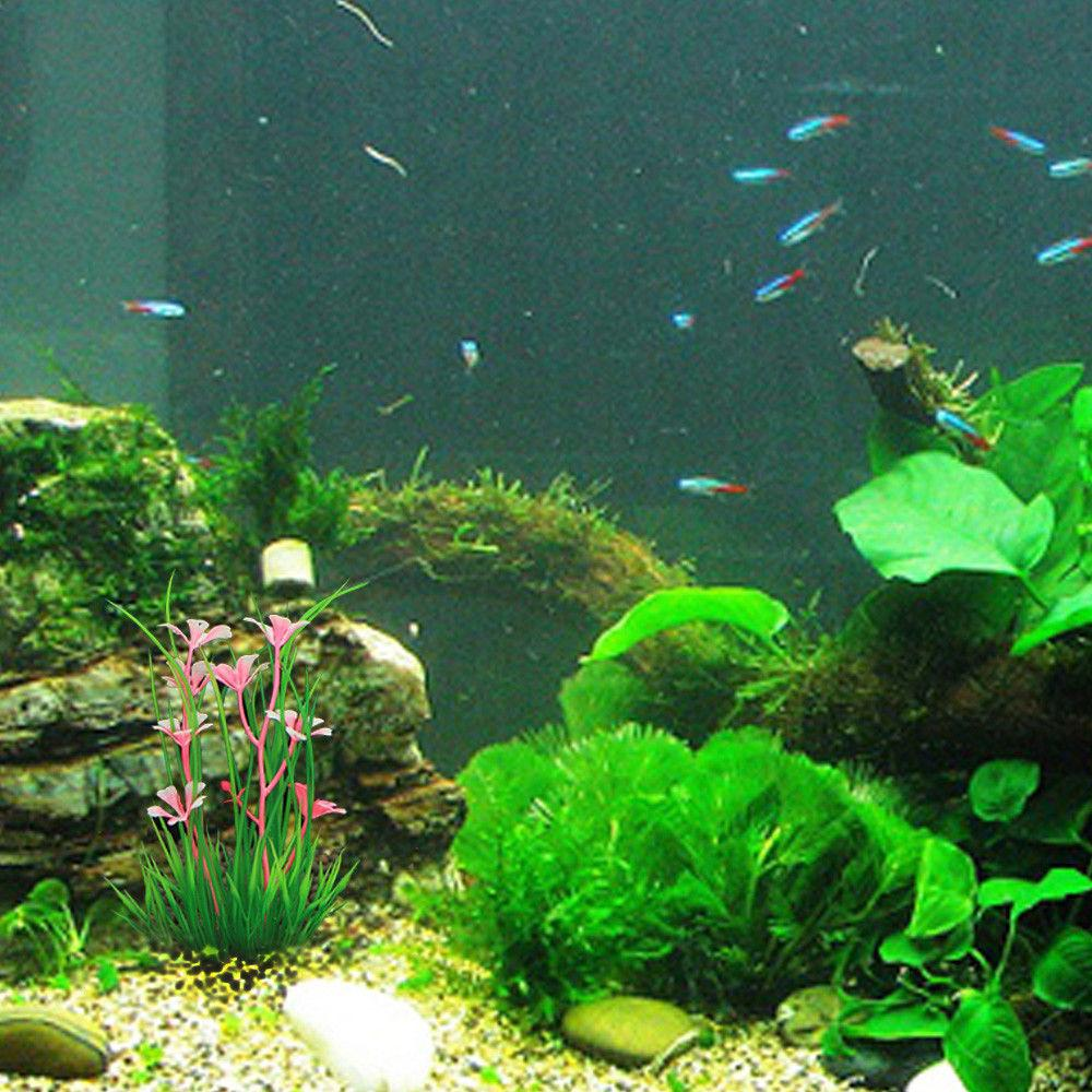 13cm Fish Plants Fake Water Flower Aquarium