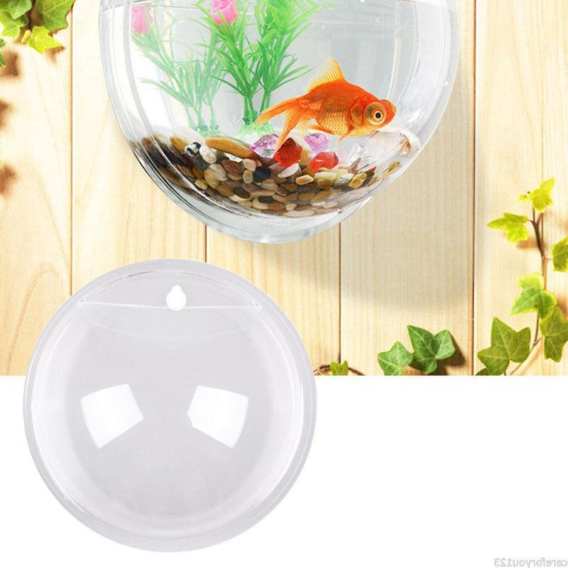15*15cm Wall Fish Aquarium Tank Plant Beta Decor