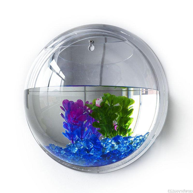 15*15cm Wall Fish Bowl Tank Beta Home Decor