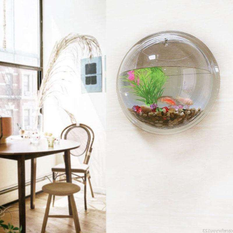 15*15cm Wall Mount Hanging Fish Tank Plant Beta Decor