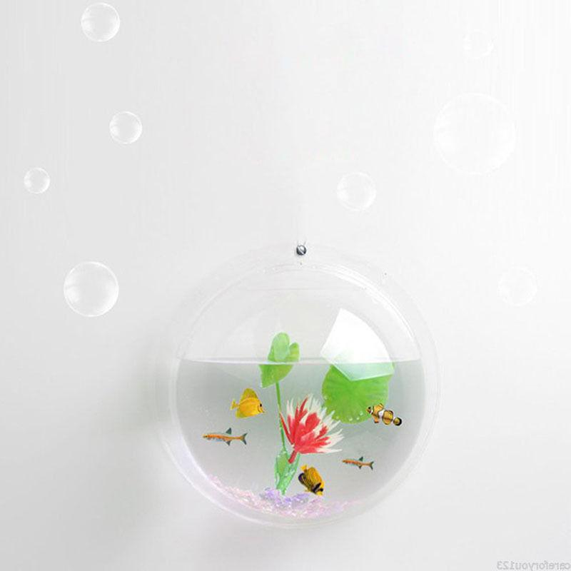 15*15cm Wall Mount Fish Tank Plant Beta Home Decor