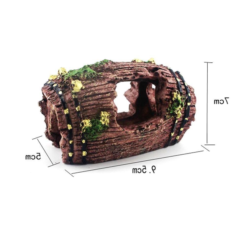 1pc Tank Artificial Barrel Resin Cave Decor