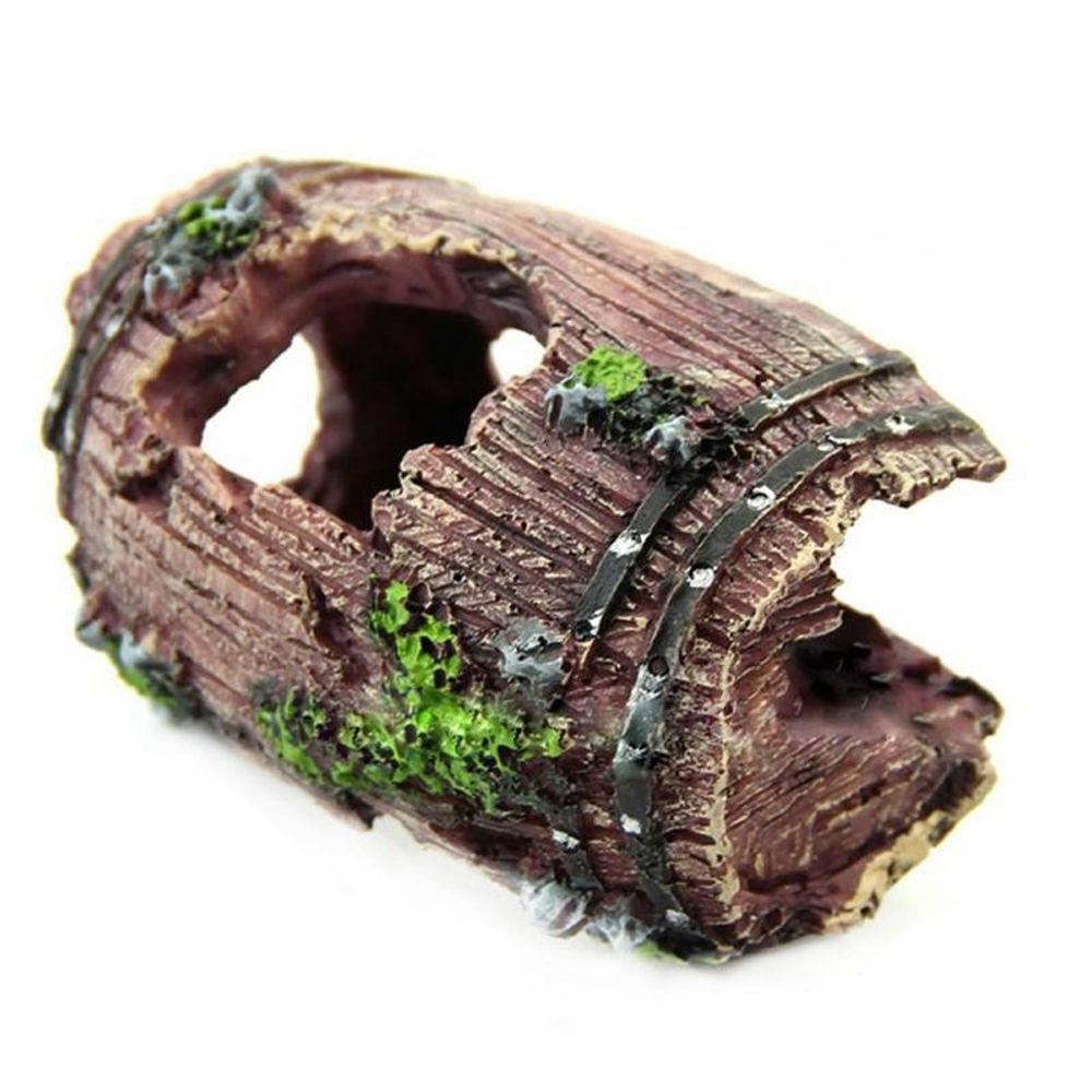 1pc Fish Artificial Barrel Resin Ornament Cave Decor Accessories