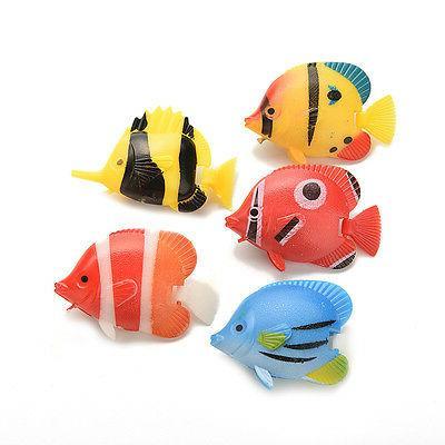 2/5 X Aquarium Plastic Fish