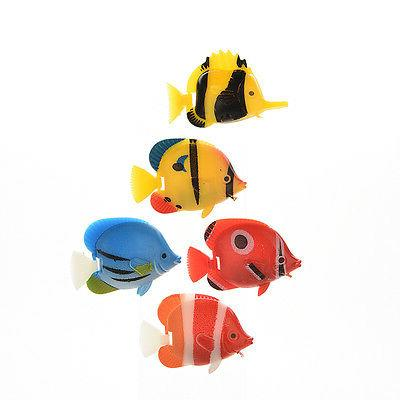 2/5p Fake Fish for Aquarium Fish Tank Decoratio