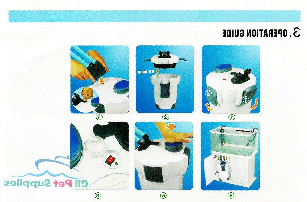 Filter UV 9w UV Sterilizer Fish Tank HW-304B