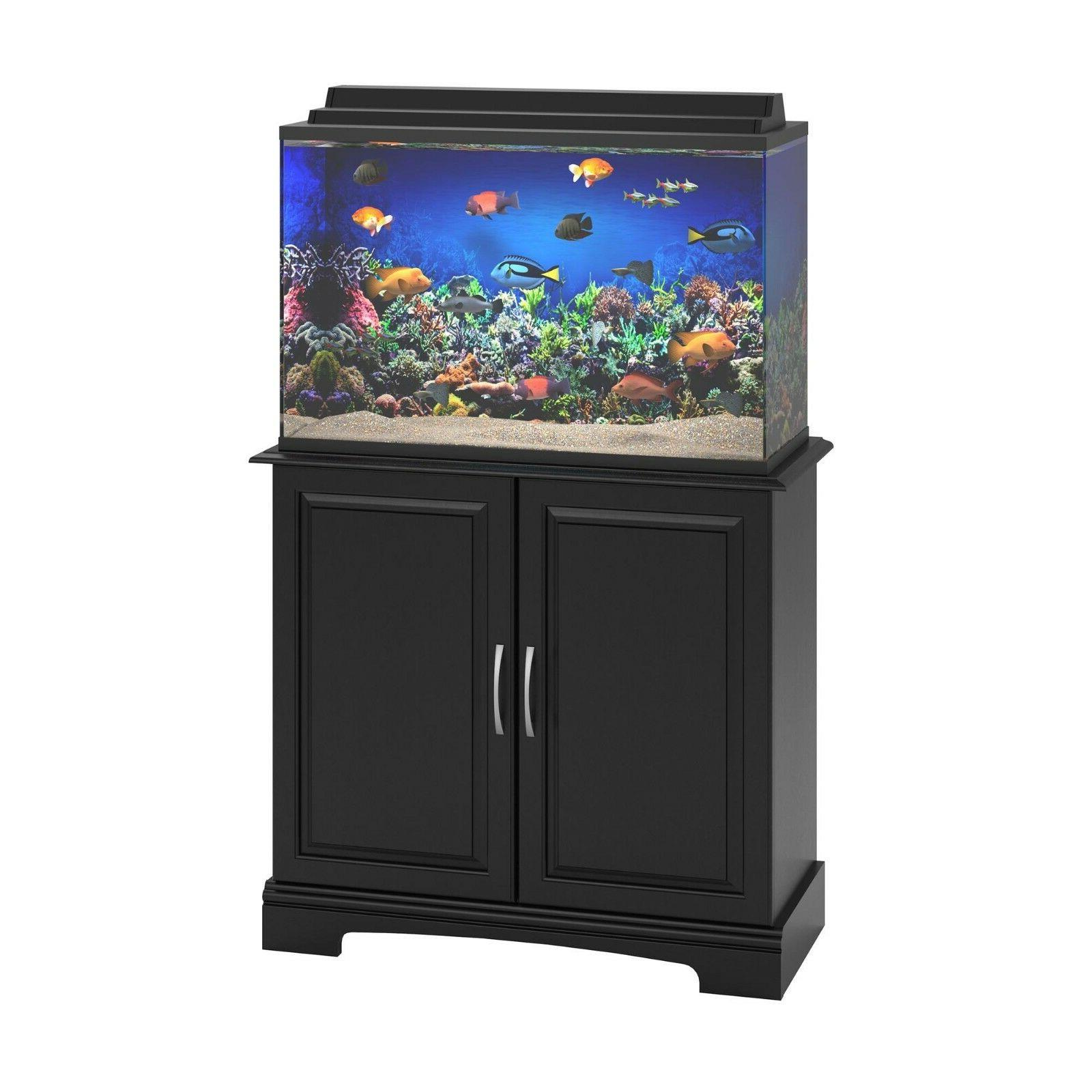 29-37 Gallon Aquarium Stand Fish Tank Holder Black Furniture Rack
