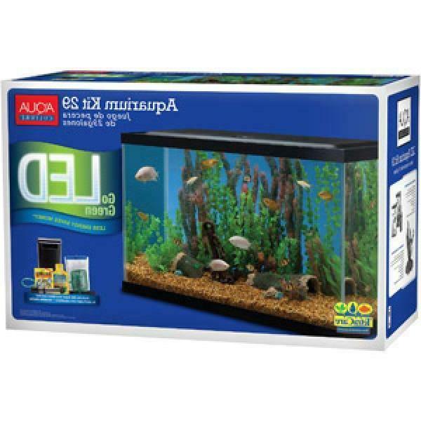 29-Gallon Aquarium Pack Tank Aqua Complete Kit Filter