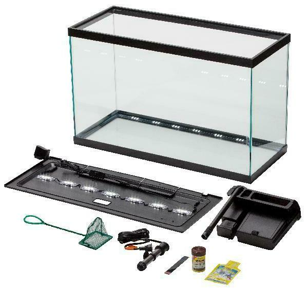 29-Gallon Fish Aquarium Starter Pack with LED Tank Filter