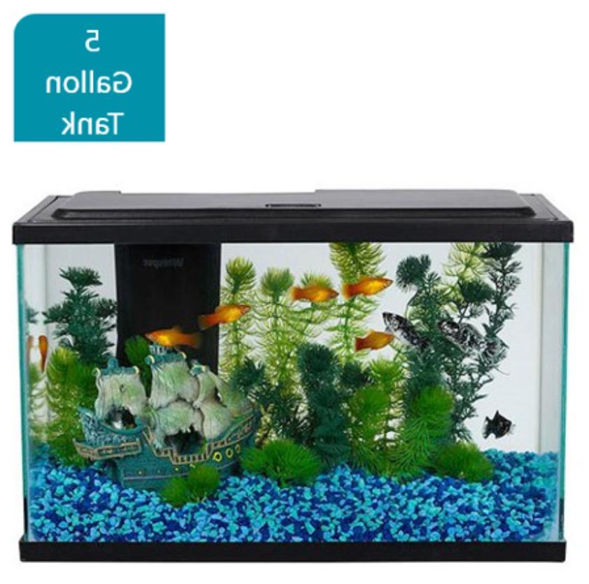 29-Gallon Aquarium Pack LED Tank Aqua Filter