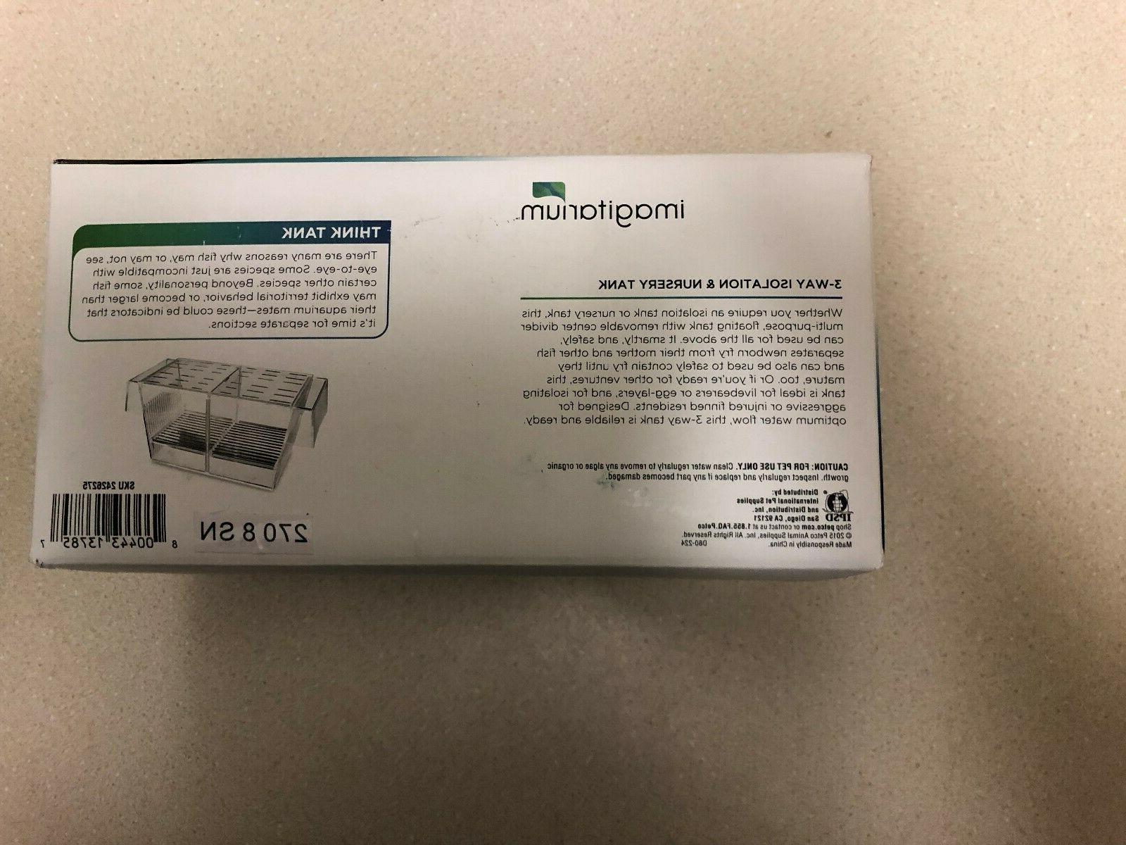 Imagitarium 3-Way Isolation Nursery Tank New