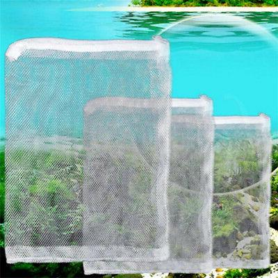 3X Nylon Mesh Aquarium Fish Tank Pond Filter Supplies Media