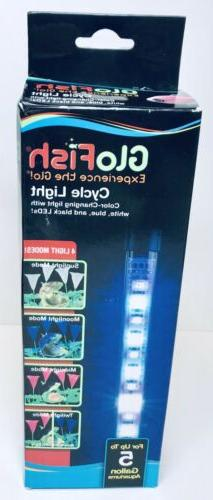 GloFish 4 Light Modes LED Cycle Light Up To 5 Gallon Damaged