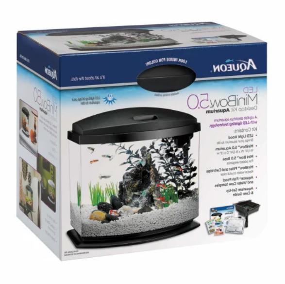 Aqueon 5 LED Fish Kit, Black