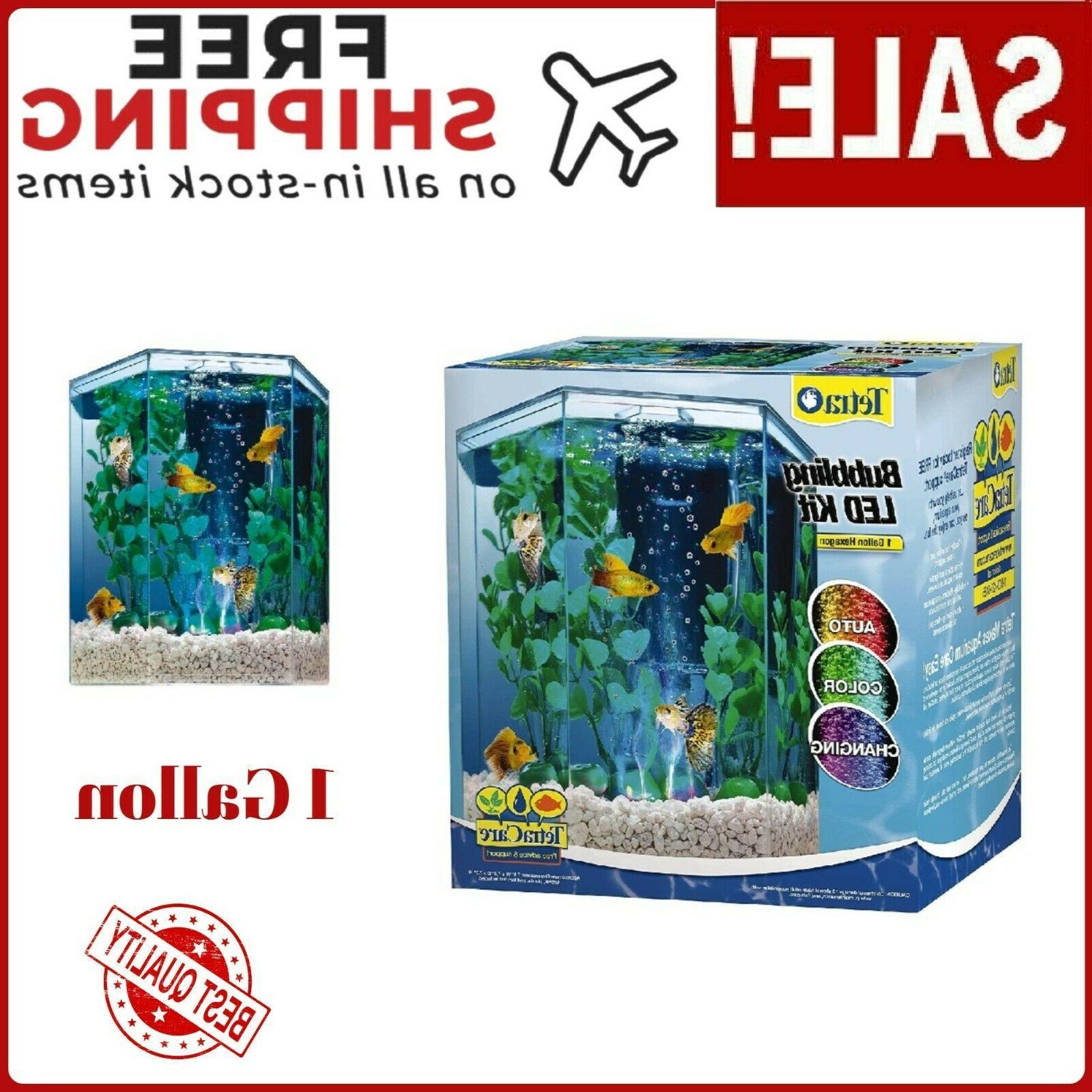 5 gallon portrait glass led aquarium w