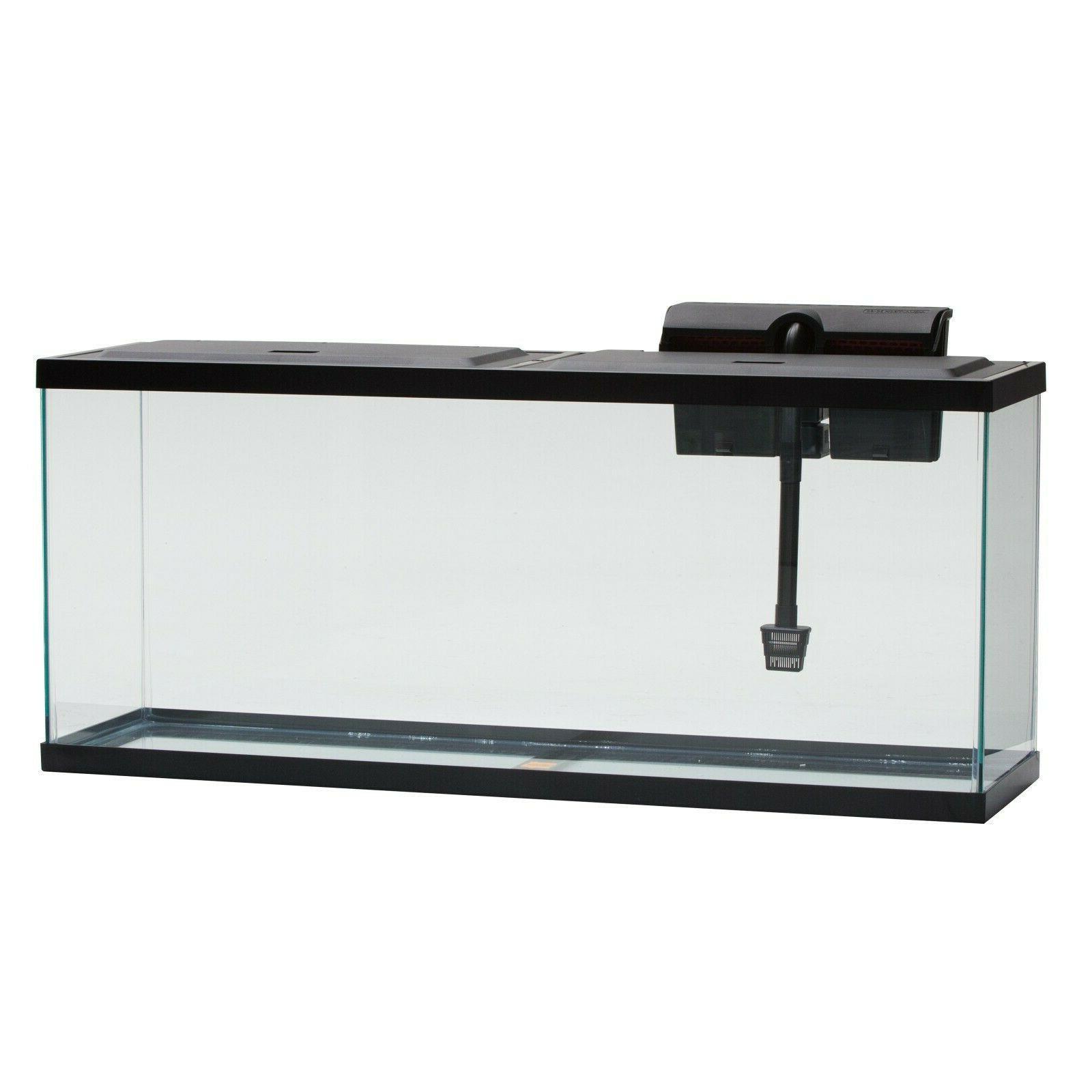 55 Gallon Aquarium Fish Tank LED Light Starter Tetra Hood