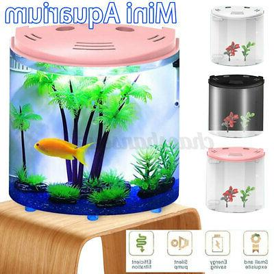 5l half moon fish tank mini aquarium