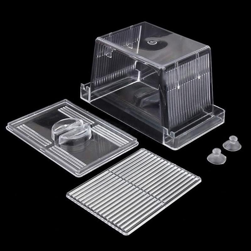 Acrylic <font><b>Breeding</b></font> Isolation Box Aquarium Incubator Aquarium Supplies