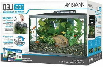 Starter Kits LED Aquarium Kit 10 Gall Quiet Tank Filter Flow