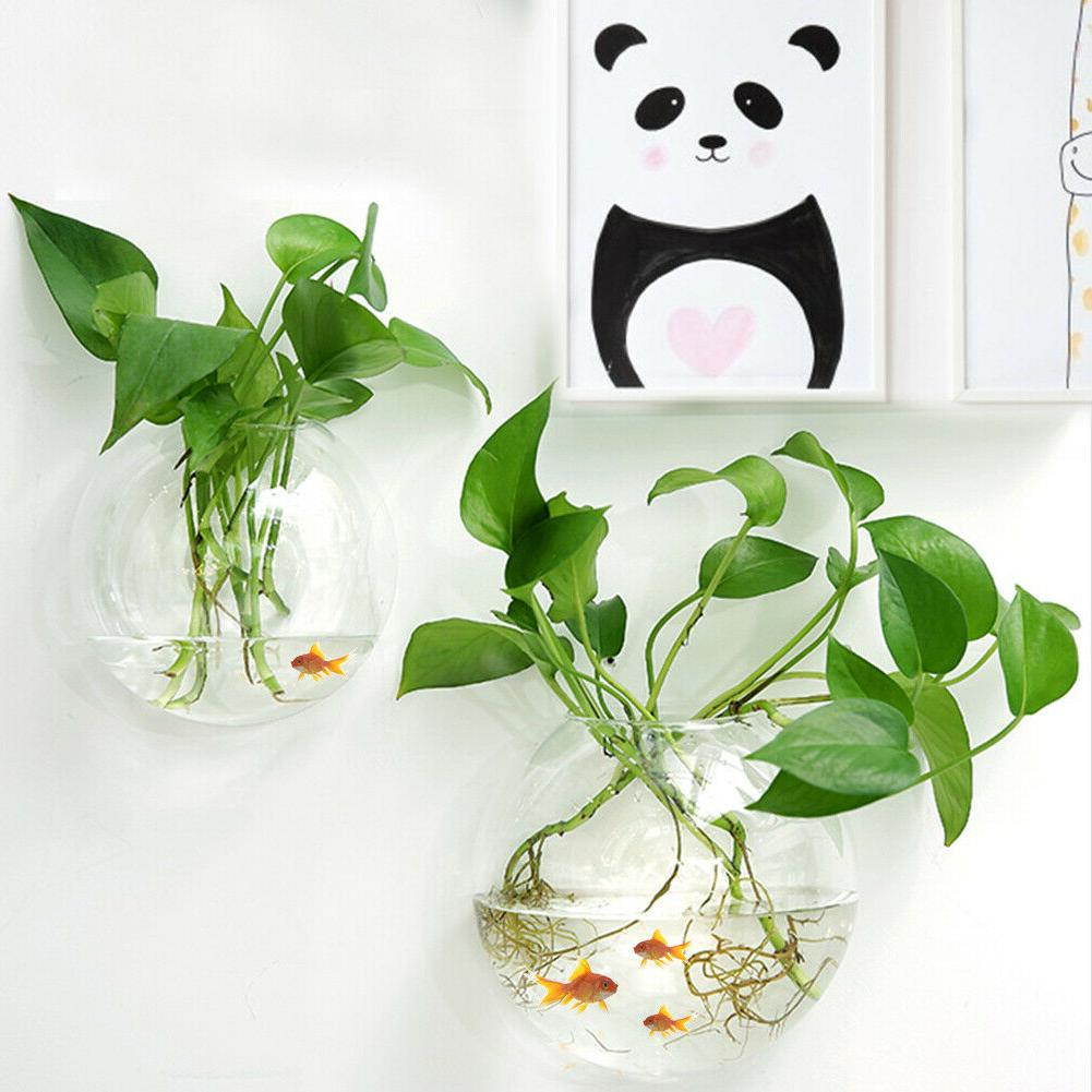 Acrylic Wall Mount Fish Bowl Aquarium Plant Tank Beta Goldfi