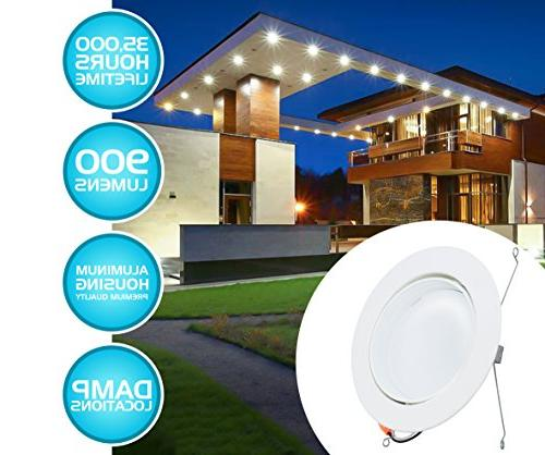 Adjustable LED with Smooth Trim, Dimmable Recessed Fixture, Damp 120V Energy YR