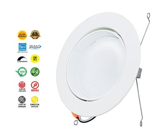 Westgate 12W Adjustable LED Downlight with Smooth Dimmable LED Light Fixture, Location 120V Energy 5 YR