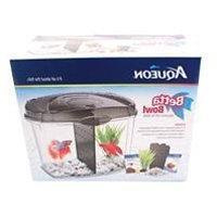 Aqueon Betta Fish Tank Starter Kit, Half Gallon, Black