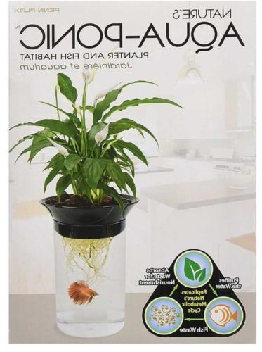 Penn Plax Aquaponic Fish Tank Environment for Plants