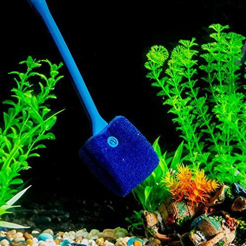 SLSON Aquarium Algae Double Sided Brush Cleaner Tank for Glass Aquariums inch