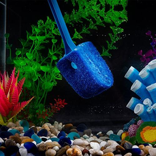 Double Sponge Brush Cleaner Long Tank for Glass Aquariums Home Kitchen,15.4 inch