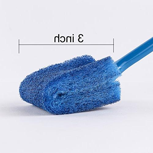 SLSON Double Sided Sponge Cleaner Long Handle Fish Tank for Aquariums and inch