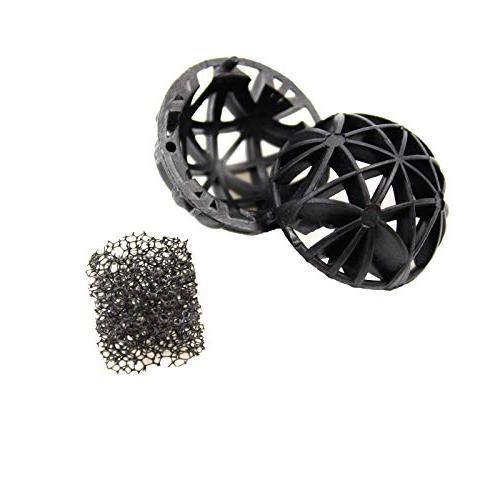 Aquaneat Aquarium Canister Media Set Ceramic Ring Bio Ball Activated for Pond Triple Pack