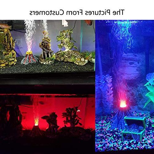 Aquarium Bubbler Volcano Kit with LED Spotlight Decorate Aquarium Tank