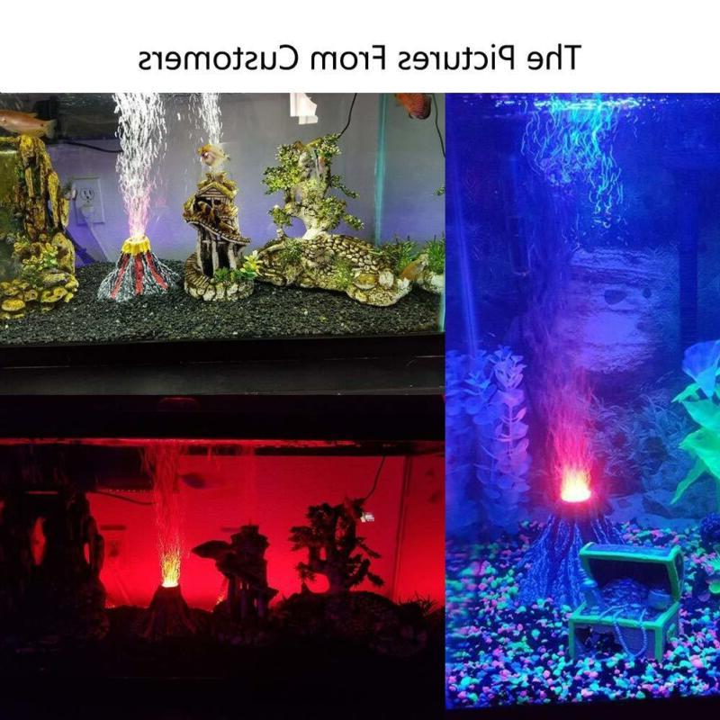Aquarium Bubbler Red Decoration Tank
