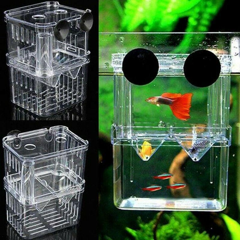 Aquarium Fish Breeding Box Tank Rearing Hatchery Split Fish