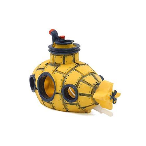 uxcell Aquarium Tank Decoration Spaceship Ornament 13x6x8cm