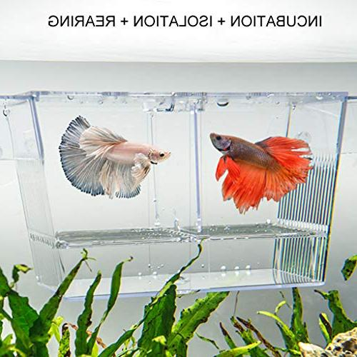 Boxtech Hatchery Acrylic Breeder Divider Hatching Boxes Small Clownfish Guppy