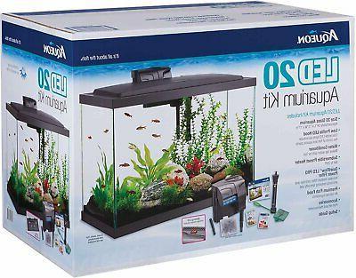 aquarium fish tank starter kit with led